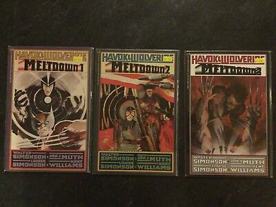 Havok & Wolverine - Meltdown #1, 2, 3 (1988, Marvel) high grade