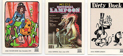 National Lampoon - Lot Of 3 Different Sculptor-Cast Chase Cards NM 21st Century