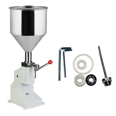 A03 5-50ml Liquid Paste Filler Manual Filling Machine For Cream Shampoo Cosmetic