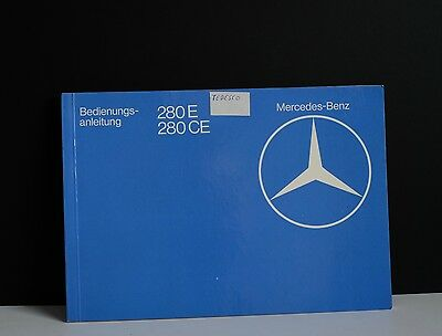 Libretto uso manutenzione Mercedes w123 280 owner's manual bedienungs-anleitung