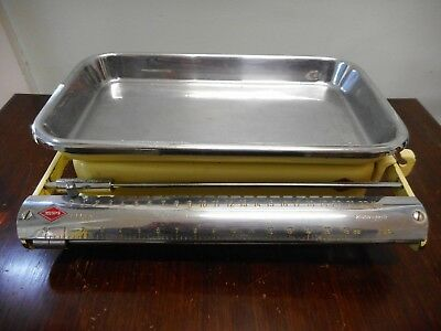Vintage Krups Perla Yellow Enamel Kitchen Scales Made In Germany