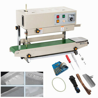 FR900 Automatic Vertical Continuous Plastic Bag Band Sealer Sealing Machine