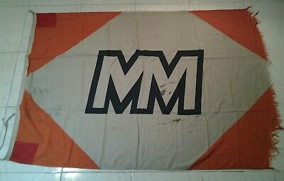 """MESSAGERIES MARITIME"" SHIPPING COMPANY FLAG circa 1970-76 (PARIS) FRANCE"