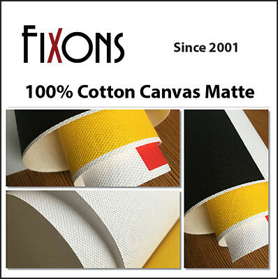"100% Cotton Inkjet Canvas for Epson - Matte Finish 17""x40' - 3 Rolls"