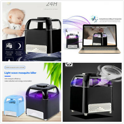 USB LED Electric Mosquito Killer Lamp Bulb Bug Insect Zapper Pest Trap Light XVY