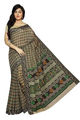 Women New Arrival Cotton Fabric Daily Wear Saree N102