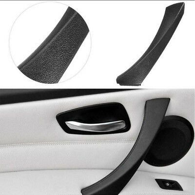 Left Inner Door Panel Handle Outer Trim Cover For BMW E90 3-Series Sedan Black