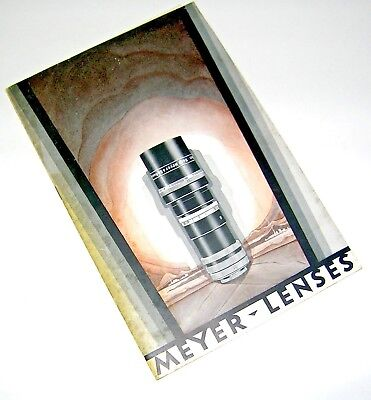 1920's MEYER-LENSES/Professional Cinematography Priced & Illustrated Catalog