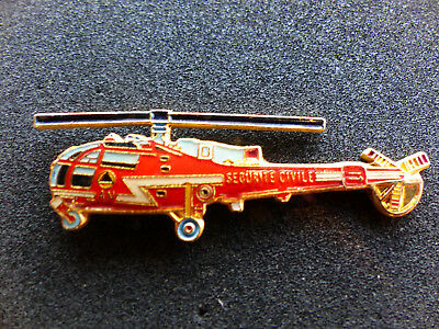 pin s pompier helicoptere