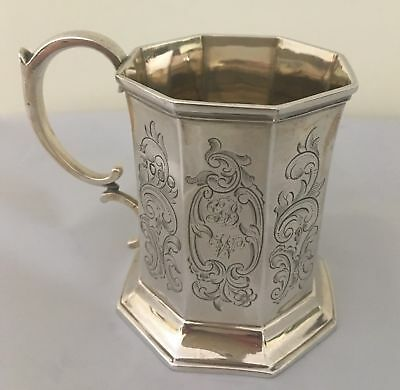 Antique Sterling Silver Christening Cup Mug Hallmarked London 1846 - 94 grams