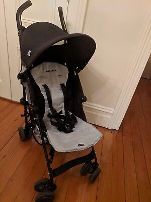 MACLAREN Stroller Black with travel bag