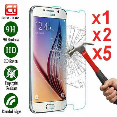 Lot Tempered Glass Screen Protector Film For Samsung Galaxy J7 J5 J3 A5 A7 S7 S6