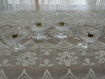 New 4 Luminarc  Verrerie D'arques  Crystal Champagne / Sherbet Glasses