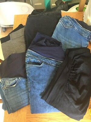 Maternity Trousers / Jeans Bundle Size 14 Next New Look Mothercare 6 Pairs