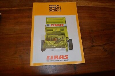 claas round baler rollant 250   250 roto cut operators