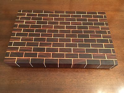 Maple and walnut brick end grain cutting board butcherblock Delta Wood Products