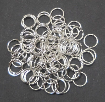 Sterling Silver Plated Open Jump Rings  20 Gauge Handmade 4Mm To 12Mm B 784