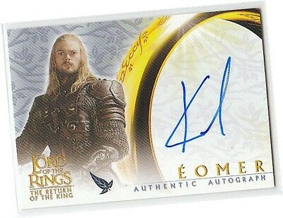 """LOTR The Return Of The King - Karl Urban as """"Eomer"""" Autograph/Auto Card - 2003"""