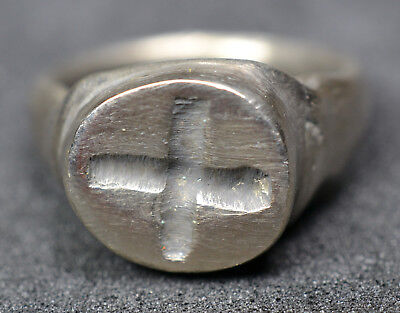 Stunning Byzantine Solid Silver Seal Ring