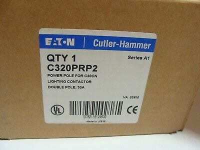 NIB Cutler Hammer C320PRP2 Power Pole For C30CN Lighting Contactor 2 Pole 30A