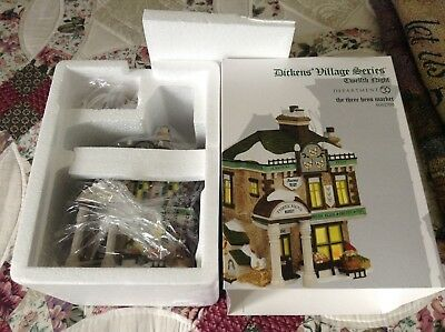 Dickens Village The Three Hens Market Department 56 NEVER USED!! Christmas House