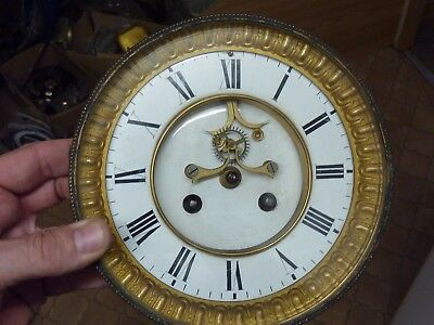 Large Antique French Open-Escapement Movement - Dial