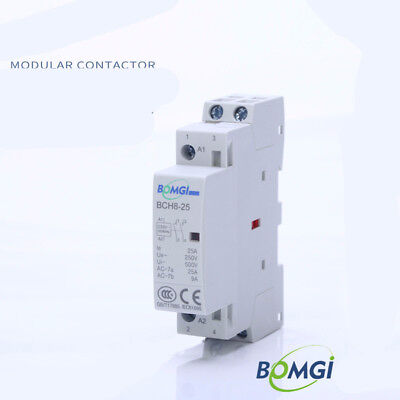 2P 25A AC 24/110/220V Din rail Ac Contactor Relay with Fixed 2NO 2NC 1NO 1NC