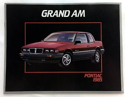 Car Auto Brochure 1985 Pontiac Grand Am 8 Pages