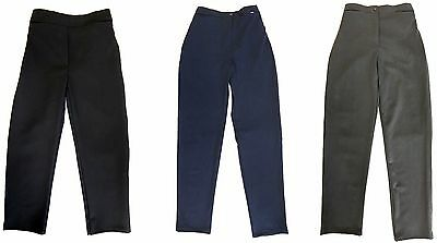 "Girls Plus Fit School Trousers Generous Fit Sturdy Fit Wider Waist 20""-34"" Waist"