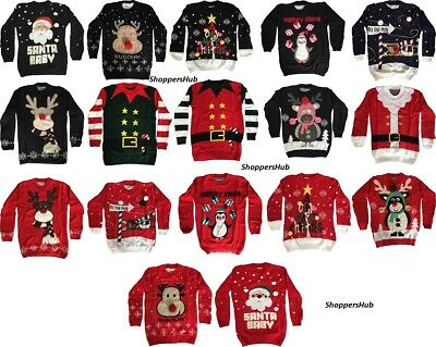 Ladies Christmas Jumper Womens New 2019 Novelty Xmas Knitted
