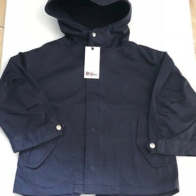 Boys Designer Navy Parka Jacket 12-18mths ABC123me  New With Tags RRP£95.00