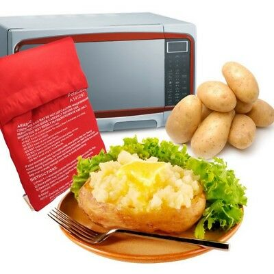 Potato Cooker Bag Microwave Cooking Washable reusable Oven Baked sweet heat ampl