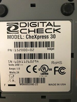 Digital Check CheXpress CX30 Scanner - 152000-02