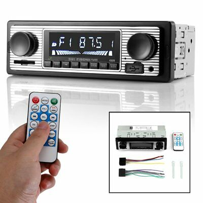 12V Bluetooth Retro Car Radio MP3 Player Stereo USB AUX Classic Car Stereo Audio