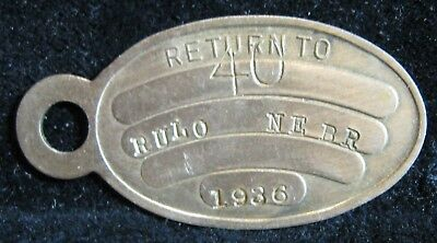 Rulo Nebraska NE dog tag license 1936