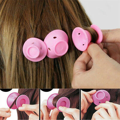 10pcs Silicone No Heat Hair Curlers Magic Soft Rollers Hair Care DIY Sets