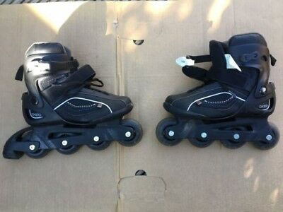 Used pair of size 5 inline roller skates from Oxelo, in very good condition