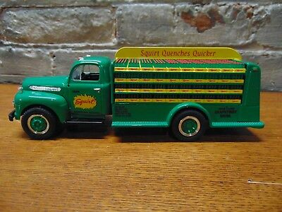 NIB ~1993 First Gear Die Cast~Squirt Soda ~1951 Ford Bottler's Truck~Last One
