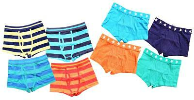 Boys PACK of 4 Cotton Trunk Fit Boxer Briefs Pants Underpants 3 to 16 Years