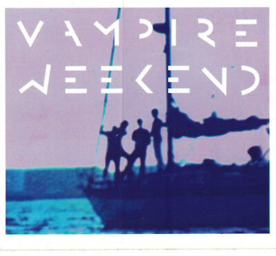 "Vampire Weekend  promo sticker 2008 (rare from first single Mansard Roof 7"")"