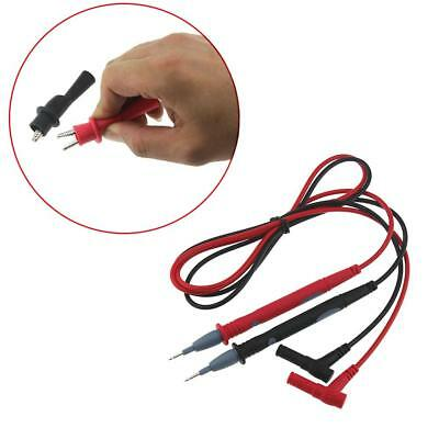 20A Red Black Multimeter Test Lead Probe Wire Pen Cable With Alligator PT1003 XI