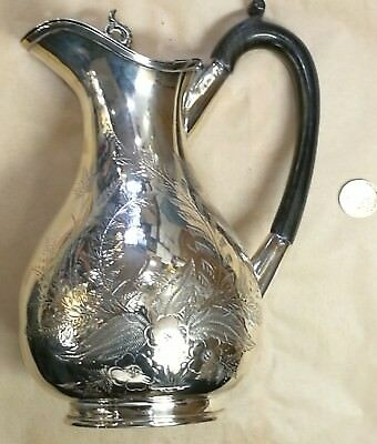 GOOD ~ SILVER Plated ~Hot? Water EWER/Jug