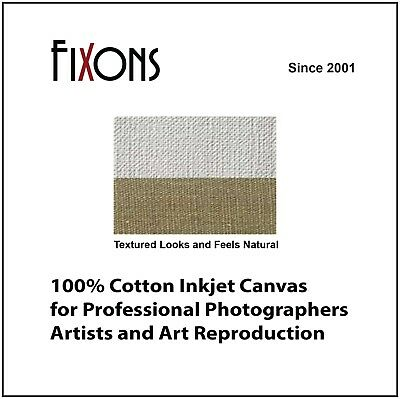 "100% Cotton Inkjet Canvas for Epson - Matte Finish 17""x40' - 5 Rolls"