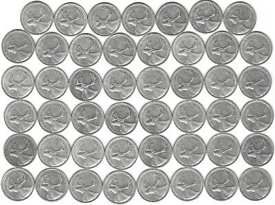 1962 Canada Silver Quarter Dollar 25 cent collection forty-seven (47) coins