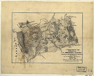 12x18 inch Reprint of American Cities Towns States Map Fauquier County Virgina