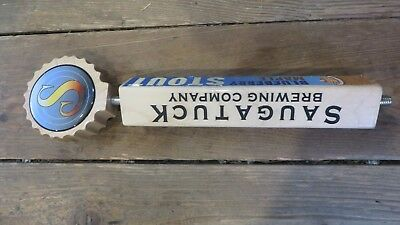 SAUGATUCK BREWING CO blueberry maple stout METAL TACKER SIGN craft beer brewery