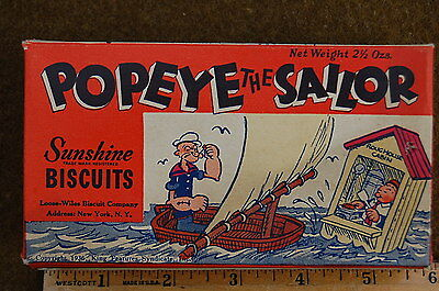 1936 Perfect Condition POPEYE Cookie Box FROM 1930s - 1950s HOARDERS HOUSE Rare!