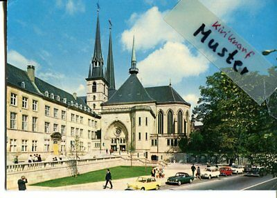 AK LUXEMBOURG, Cathedrale, Auto voiture car, BMW 700, Citroen Amy 8, 1965