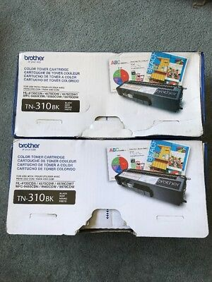 Genuine Brother Tn310Bk Toner Set (2-Pack) Hl-4150Csn, Hl-4570Cdw, Hl-4570Cdwt