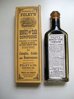 Foley's Honey & Tar Compound, Great Condition, Unopened,  Made in Chicago
